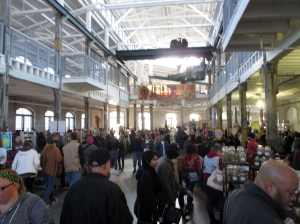Inside the old Roebling Wire Works, Trenton, NJ, for the Punk Rock Flea Market.