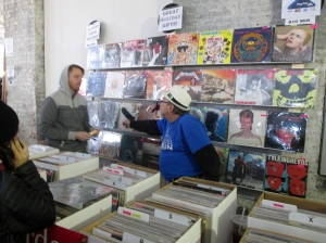 More by-god vinyl at the Punk Rock Flea Market. Bowie was everywhere....