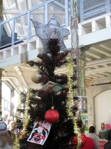 The Punk Rock Flea Market Christmas tree.