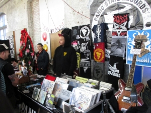 Panic State Records, a New Brunswick, NJ vinyl-only Punk/hardcore record label, was out in force at the Punk Rock Flea Market.