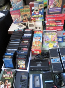 Atari games, VHS tapes, a new generation Intellivision, a Walkman, and more from the 1980s at the Punk Rock Flea Market.