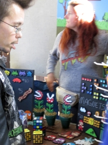 Jaw-dropping 1980s perler bead art of 1970s and 1980s pop culture at the Punk Rock Flea Market.