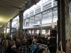 Inside the Roebling Wire Works for the Punk Rock Flea Market, Trenton, NJ