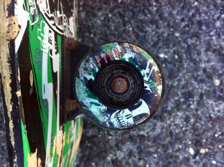 Kryptonics wheels, painted, and native to this board.