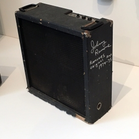 1974-75 amp signed by Johnny Ramone.