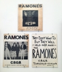 Ramones handbills for CBGB shows.