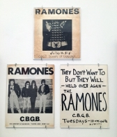 Ramones handbills for CBGB shows.