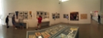 Panorama of the first gallery.
