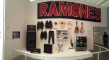 Panorama of Ramones gig-wear and some gear.