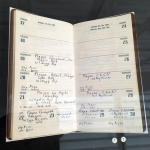 Joey Ramone's gig diary. He recorded the date, venue, and who else was on the bill for every show the Ramones played.