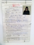 Johnny Ramone's 1981 travel visa to Japan. This proves that no one looks good in government-issued photos.