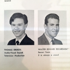 1966 Forest Hills High School yearbook photo of Thomas Erdelyi, aka Tommy Ramone.