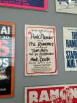 1977 concert poster with Tom Petty and the Heartbreakers (and Mink Deville) opening for the Ramones.